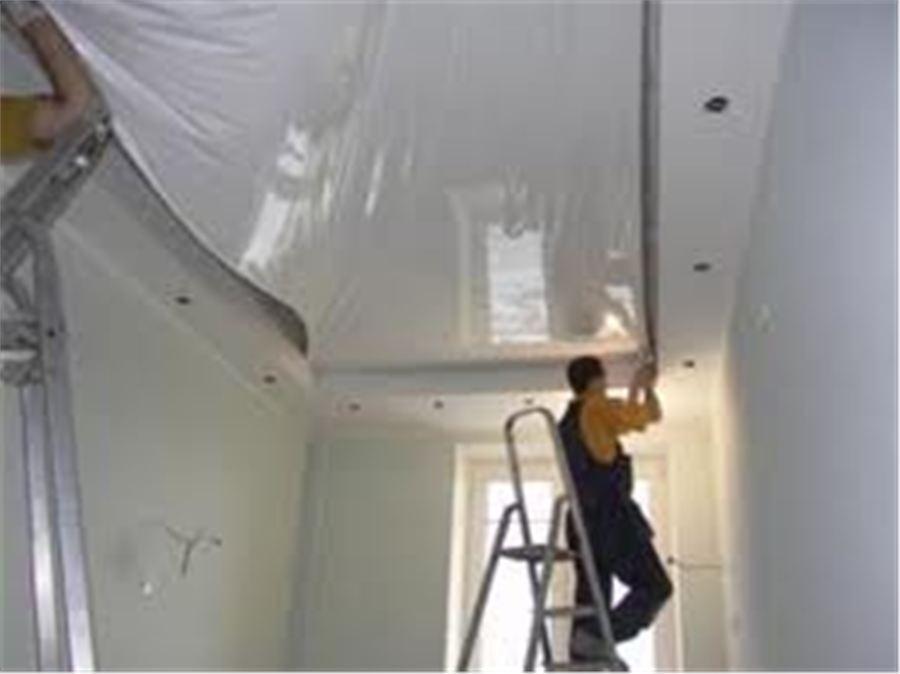 Натяжной потолок на кухне как установить его своими руками